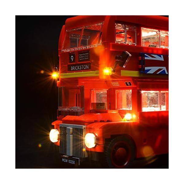 BRIKSMAX Kit di Illuminazione a LED per London Bus, Compatibile con Il Modello Lego 10258 Mattoncini da Costruzioni… 2 spesavip