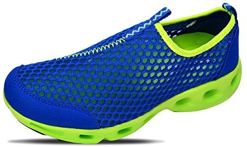 ODEMA Zapatillas de Agua ligeras de Malla Slip On de Verano Para Mujer Blu (Blu Royal)