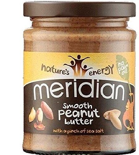 Meridian Bio glatte Erdnussbutter - ohne Zusatz von Zucker - 280g (Glatte Erdnussbutter Bio)