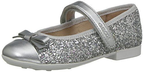 Geox Mädchen JR PLIE' A Geschlossene Ballerinas, Silber (Silver), 37 EU -