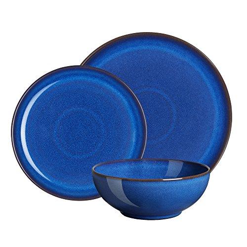 Denby Imperial Frühstücks-Geschirr, Blau, 12-teiliges Set