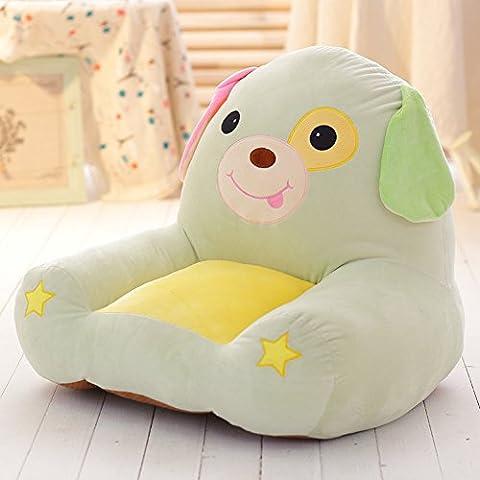 MeMoreCool Kindersofa Cartoon-Löwe, Kindersessel. Ruchtsicherer Tatami-Stuhl, Baby-Stuh, Geburtstagsgeschenk für Jungen und Mädchen, beige, baumwolle, light green dog, 22