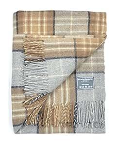 The Tartan Blanket Co. Couverture classique en laine – style tartan écossais Mackellar