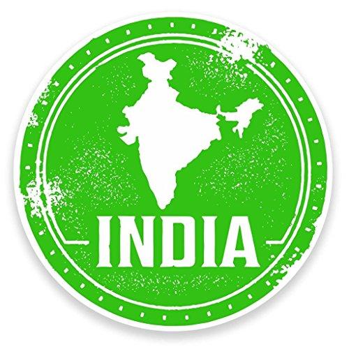 Preisvergleich Produktbild 2 x 10cm/100mm Indien Vinyl SELBSTKLEBENDE STICKER Aufkleber Laptop reisen Gepäckwagen iPad Zeichen Spaß #9215