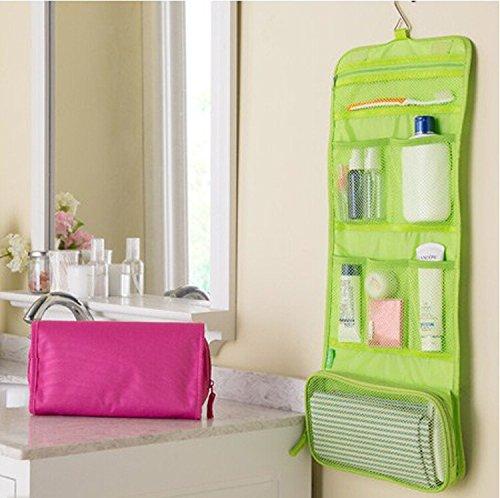 SwirlColor Sac de rangement étanche Voyage de toilette Makeup Cosmetic Pour Camping Randonnée organisateur avec Hook (Vert)