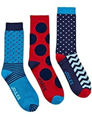 Joules Mens Brilliant Bamboo Three-Pack Printed Ankle Socks