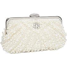874ed55b8d Kisschic Borsa donna Borsa clutch Cerimonia Perline Perle Donne Eleganti Pochette  e clutch