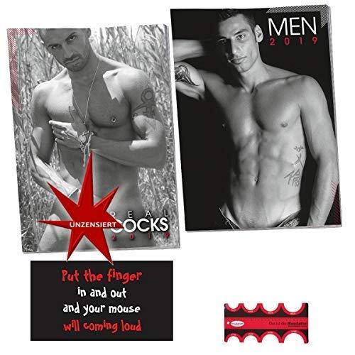 Erotik Kalender Set 2019 nackte Männer & Messlatte inkl. Magnet Put the Finger