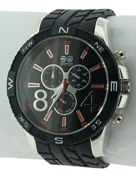 CROSSHATCH Herren-Armbanduhr Analog Silikon Schwarz CRS32/B