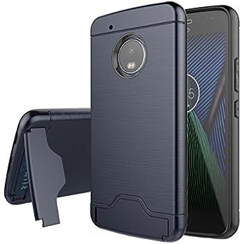 moto g5 plus case. moto g5 plus case, moonmini [premium rugged][card slot][kickstand case s