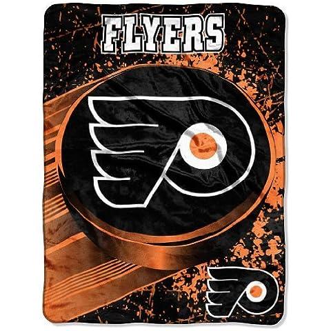 NHL Philadelphia Flyers Ice Dash Micro Raschel Throw Blanket, 46x60-Inch