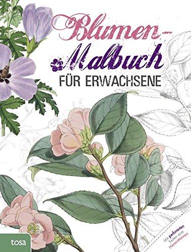 Blumen-Malbuch für Erwachsene -