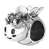 So Chic Joyas - Abalorio Charm abeja reina corona - Compatible con Pandora, Trollbeads, Chamilia, Biagi - Plata 925