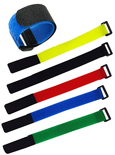 diketer-50pcs-nylon-hook-and-loop-velcro-tape-with-buckle-reusable-self-gripping-fastening-wraps-str