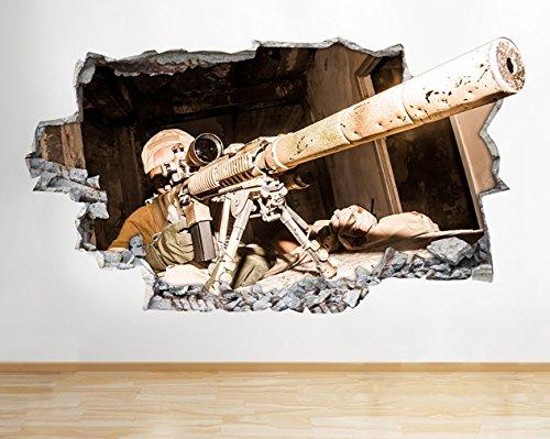 tekkdesigns z090Armee Sniper Gaming Cod Jungen Wand Aufkleber 3D Poster Art Aufkleber Zimmer Vinyl Kids Schlafzimmer Baby Kinderzimmer Cool Wohnzimmer Hall Jungen Mädchen (groß (90x 52cm))