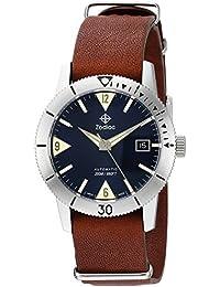 1fc0969e2e64 Zodiac  Super Mar del Hombre Lobo 53 Piel de Swiss automático Reloj Casual  de Cuero