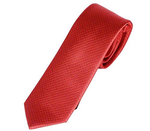 Pietro Baldini Krawatte Rot mit kleinem edlem Muster aus 100% Seide,handgefertigt.7,5 cm breit Design: SW15076-3