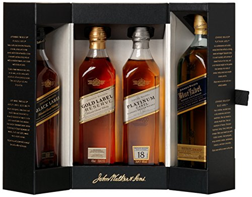 Johnnie Walker Collection Pack Blended Scotch Whisky (4 x 0.2 ()