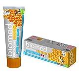 biomed Propoline Zahnpasta ohne Fluorid, mit Propolis für die Zahnfleischpflege und 98% natürlichen Inhaltsstoffen