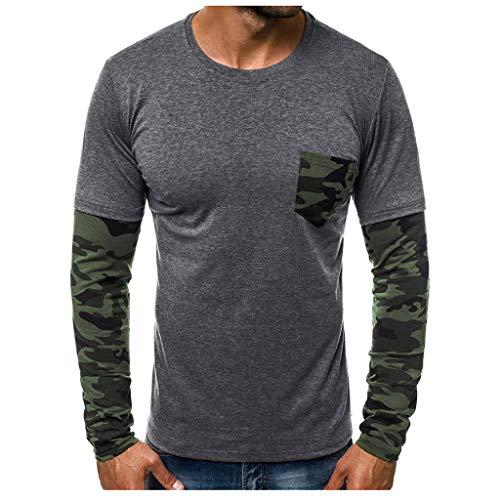 R-Cors Herren Longsleeve Rundhals Ausschnitt Langarm Shirt