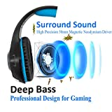 Gaming Headset für PC PS4 Xbox One, Beexcellent LED Licht Deep Bass Professional Kopfhörer mit Mikrofon für Laptop Mac Handy Tablet hergestellt von Beexcellent