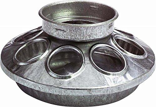 Miller Galvanized Round Jar Feeder Ba 1 Quart - 9810