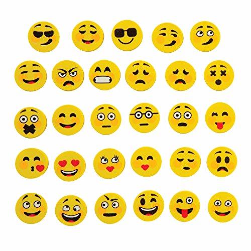 10 Stück Emoji Smiley Radiergummi Set | Lach Emoticon Radiergummis für Kinder | Geburtstag...