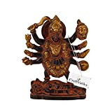 craftvatika groß Göttin Durga Devi Messing Statue | Antik Finish Maa Kali Mata Figur |