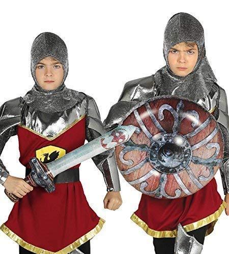 Jungen Mädchen Aufblasbar Schwert Schild Mittelalter Ritter Kostüm Warrior Outfit Accessoire Waffen Satz