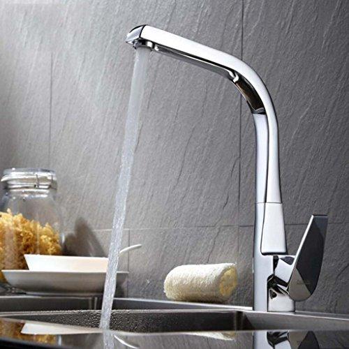 DDHZTA Vollkupfer-Küchenarmatur Vollschalen-Küchenspüle Mit Heißem Und Kaltem Doppelzylinder-Chrom Sicher Und Zuverlässig Wasserhahn - Konverter Wasserhahn, Dusche Spüle,