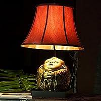 Cinese da letto Soggiorno lampada da tavolo di nozze Lampada da comodino Studio decorazione di arte classica casa Auspicious fortunato Doll Decoration lampade ( colore : Boy