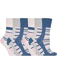 Gentle Grip - calcetines mujer sin goma colores fantasia estampados de algodon…