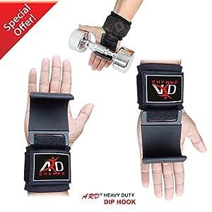 ARD Power Weight Lifting Training Gym Straps Hook Bar Wrist Brace