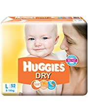 Huggies New Dry Diapers, Large (Pack of 52)