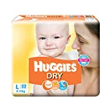 Best Huggies Diapers For Babies - Huggies New Dry Large Size Diapers (52 Counts) Review