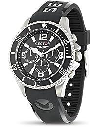 Sector–r3251161002–230–Armbanduhr–Quarz Chronograph–Zifferblatt schwarz Armband Kunststoff schwarz