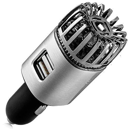 Kimmyer Hochwertiger USB Auto Luftreiniger Ionisator, 12V Plug-in Auto Lufterfrischer Ionic Deodorizer, Rauchgeruch, Haustier- und Lebensmittelgerüche, Allergen-Eliminator für Auto