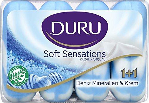 3x Duru Soft 1+1 Seife Festseife Handseife Sea Minerals 4x90gr