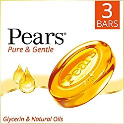 Pears Pure and Gentle Bathing Bar, 3x125g
