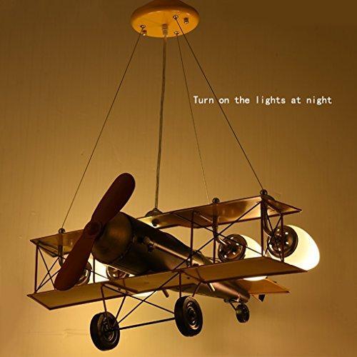 Guo Kinderzimmer-Lichter-Jungen-Schlafzimmer-Flugzeug-Lichter-Kronleuchter-Pers5onlichkeit-kreative Legierungs-Lampen-E27 Lampen-Hafen - 3