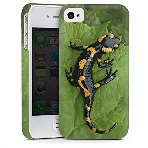 Apple iPhone 5s Housse étui coque protection Salamandre Saurien Reptile Cas Premium mat