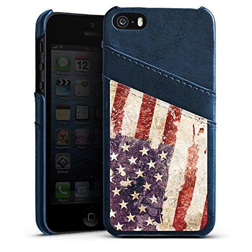 Apple iPhone 4 Housse Étui Silicone Coque Protection États-Unis d'Amérique Amérique États-Unis Drapeau Étui en cuir bleu marine