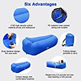 Inflatable Lounger, Air Sofa Lazy Carry Portable Waterproof Sleeping Bag Ultra-light Bed with Pillow Pool Float for Camping, Hiking, Swimming Pool, Beach, Backyard, Travelling