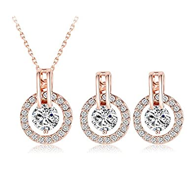 La Vivacita 18ct rose Gold plated Brilliance jewellery set with swaovski crystals Gift for Women and Girls