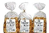 Pack 3 Taralli von Apulien | Backprodukt ideal für Snacks Das Paket enthält Taralli mit Olivenöl, mit Fenchelsamen, mit Rübenoberteile |Handgefertigtes Produkt