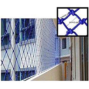 LHF Safety Nets,Blue Child Safety Net Decoration Protection Fence Climbing Woven Rope Cargo Trailer Safety Nets,Netting Decor Mesh, Railings Stairs Playground Children Indoor Decoration Outdoor Balco   11