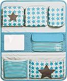 Lässig Car Wrap-to-Go Auto-Utensilientasche Autorücksitzorganizer/Rücksitztasche für Auto oder Kinderzimmer zum Hängen, Blau (Starlight Olive)