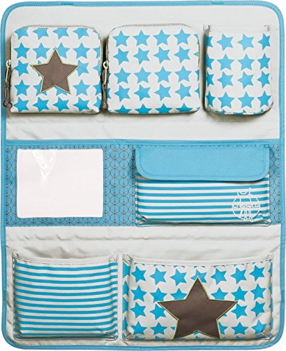 Lässig Car Wrap-to-Go About Friends mélange Kindergepäck, 55 cm, 7.26 L, Blue blau (Starlight olive)