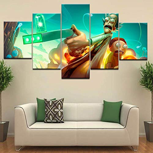 rkmaster-5 Poster Canvas Rick And Morty Fan Art Wall Poster Print On Canvas  Art Painting For Home Living Room Decoration