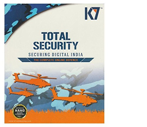 K7 Total Security Anti-Virus Software 2016 – 2 Users, 1 Year Latest Version (CD)